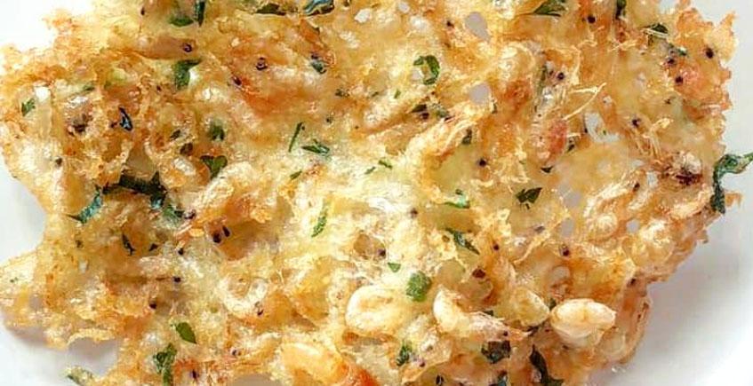 Las tortillitas de camarones del restaurante Barbiana