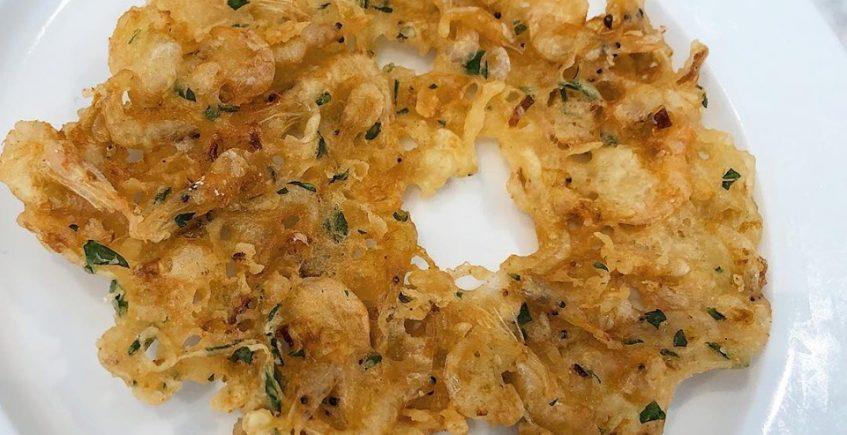 Las tortillitas de camarones de La Barra de Inchausti