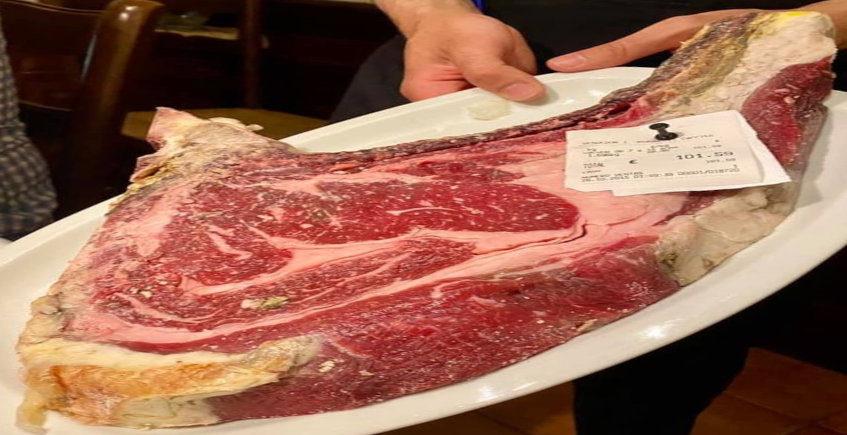 La carne a la brasa de la Venta El Carrito