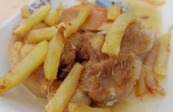 El pollo al horno de la Venta Santa Genoveva