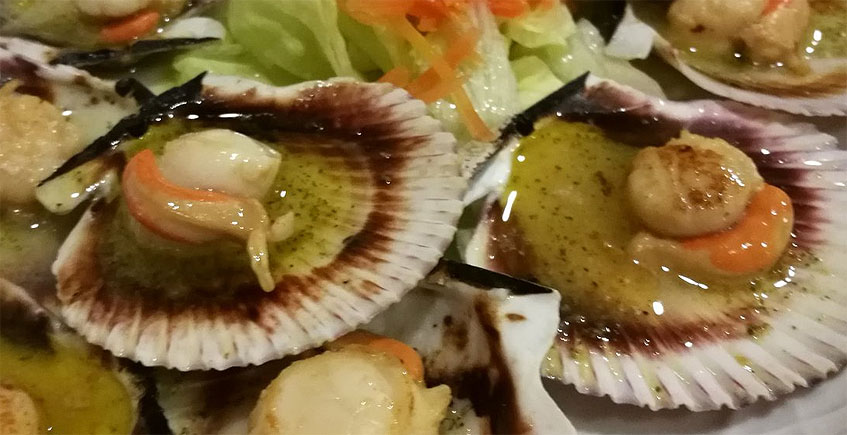 Las zamburiñas de Lar Gallego restaurante
