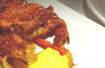 El cangrejo en tempura de Casa Ramiro
