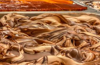 El helado de turrón de la Heladería Rayas