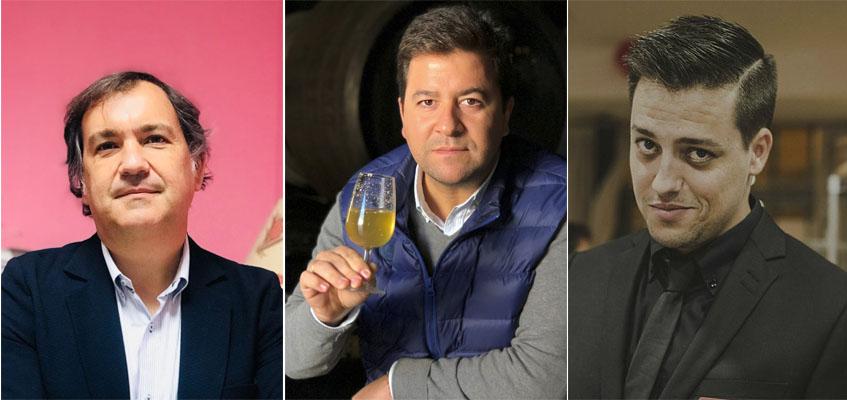 José Miguel Barrón, Javier Ciezar y Txema Marín, los integrantes de la redacción de Cosasdecome Sevilla