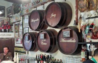 La selección de jereces de la taberna Manolo Cateca