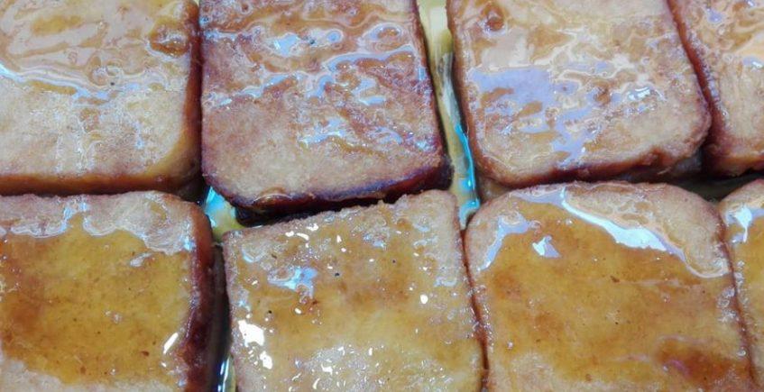Las torrijas de la pastelería Los Angelitos
