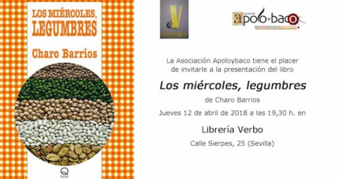 Charo Barrios presenta su libro Los miércoles, legumbres en la Librería Verbo
