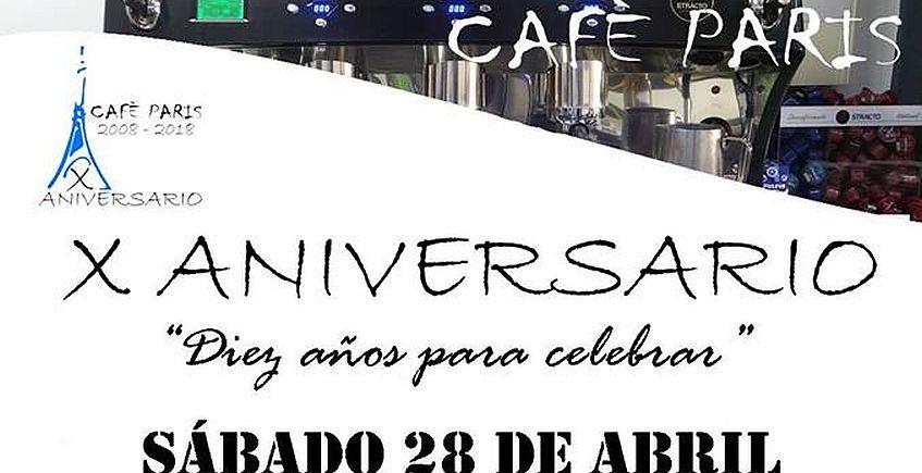 Degustación de paella por el décimo aniversario del Café París de Coria del Río