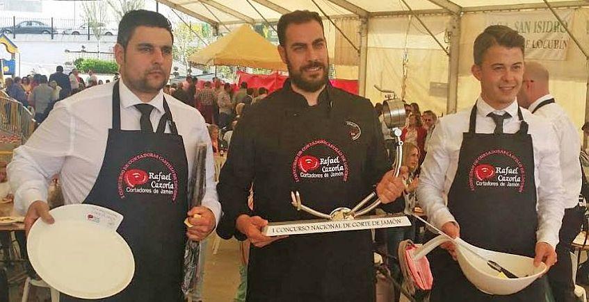 Dos sevillanos, ganadores del Concurso de Cortadores de Jamón de Jaén