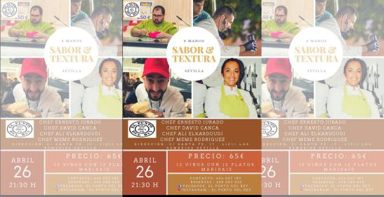 Sabor y Textura: Un menú de doce platos a ocho manos
