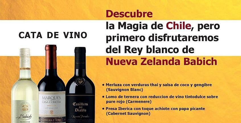 31 de mayo. Sevilla. Menú maridado con vinos de Chile y Nueva Zelanda