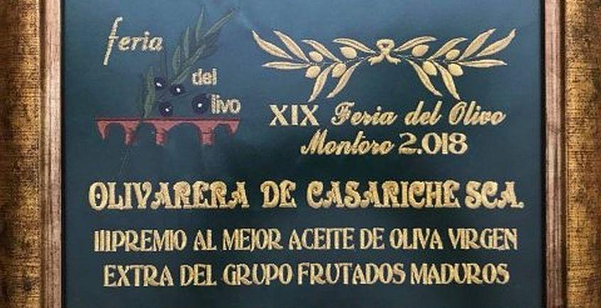 Premio para el aceite frutado maduro de la Cooperativa Olivarera de Casariche