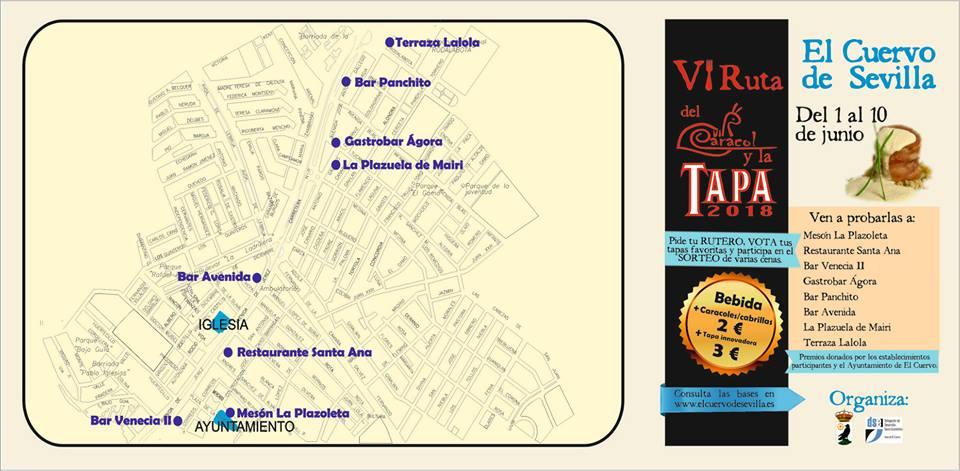 Mapa con la ubicación de los establecimientos.