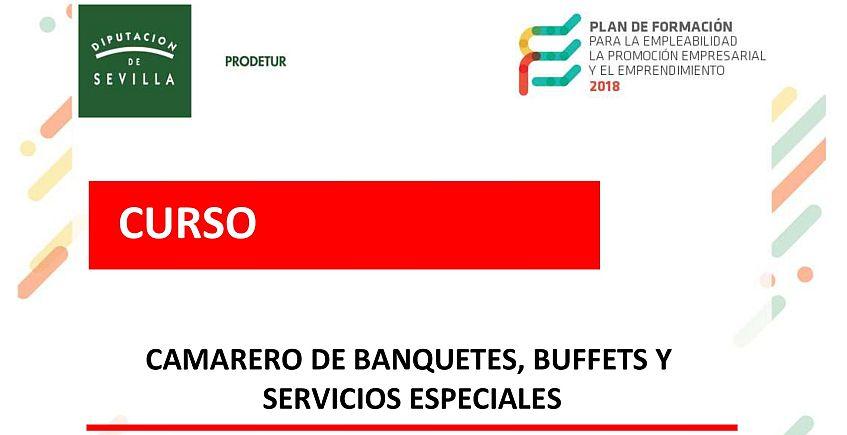 Curso gratuito de camarero de banquetes, buffets y servicios especiales en Lantejuela