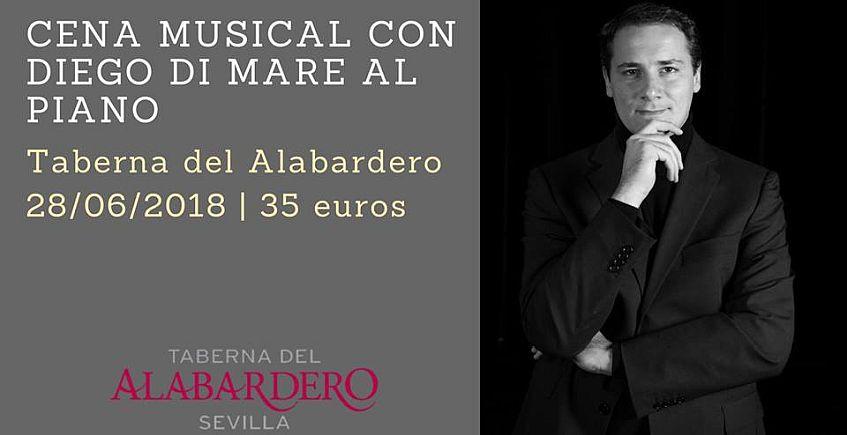 Cena musical con Diego Di Mare en la Taberna del Alabardero