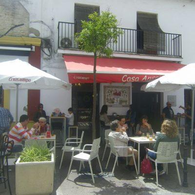 La terraza de Casa Anselmo. Foto: Cosasdecome.