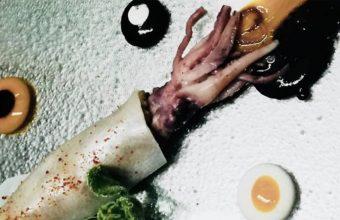 El calamar al curry uno de los platos del menú degustación de Tribeca. Foo: Tribeca