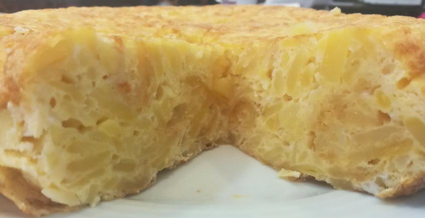La tortilla de patatas del bar Santa Marta