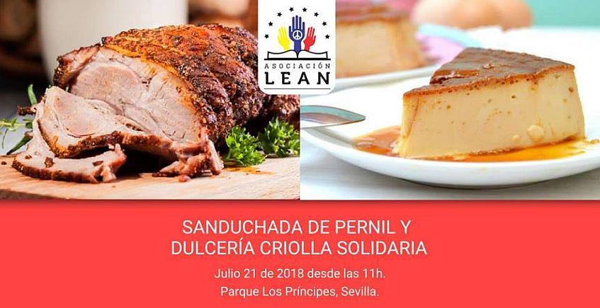 21 de julio: Sanduchada de pernil y dulcería criolla solidaria