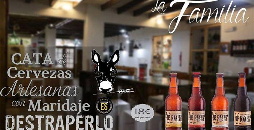 Cata de cervezas Destraperlo en Bar Abacería La Familia de Castilleja de La Cuesta