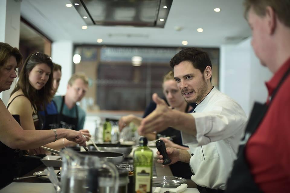 Una de las clases del Taller Andaluz de Cocina. Cedida por el establecimiento.