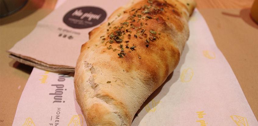 Panzerotti vegano: mix de verdura de temporada asada al horno. Foto: cosasdecomé
