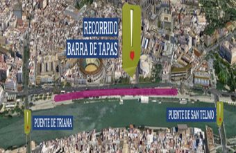 Mapa del sitio donde se celebrará el evento de la barra más grande del mundo. Imagen cedida por Makro
