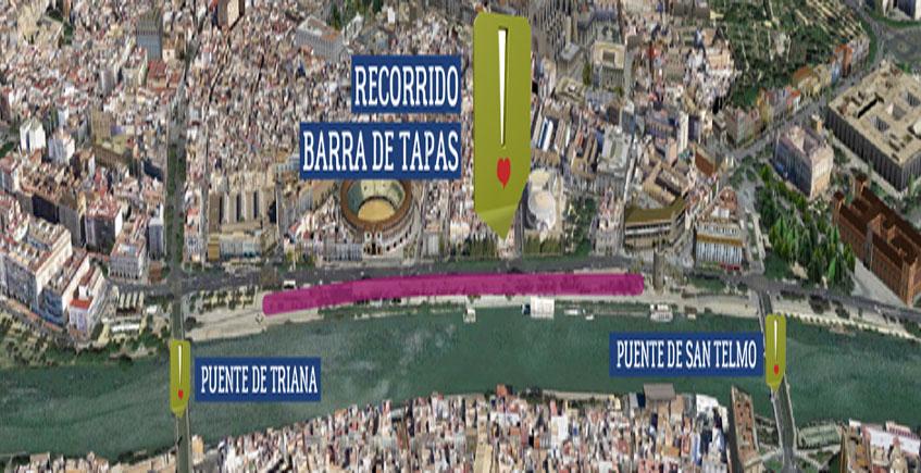 300 bares montarán el próximo 6 de octubre en Sevilla la barra más grande del mundo: 600 metros de largo