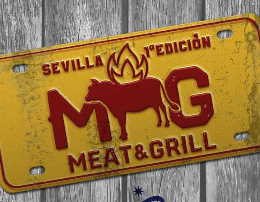 """El logotipo de la ruta """"para carnivoros"""", la Sevilla Meat & Grill"""