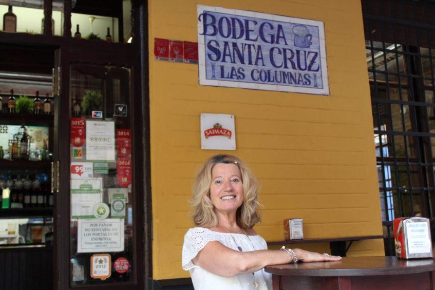Regina García, propietaria de Las Columnas. Foto: Cosas de Comé