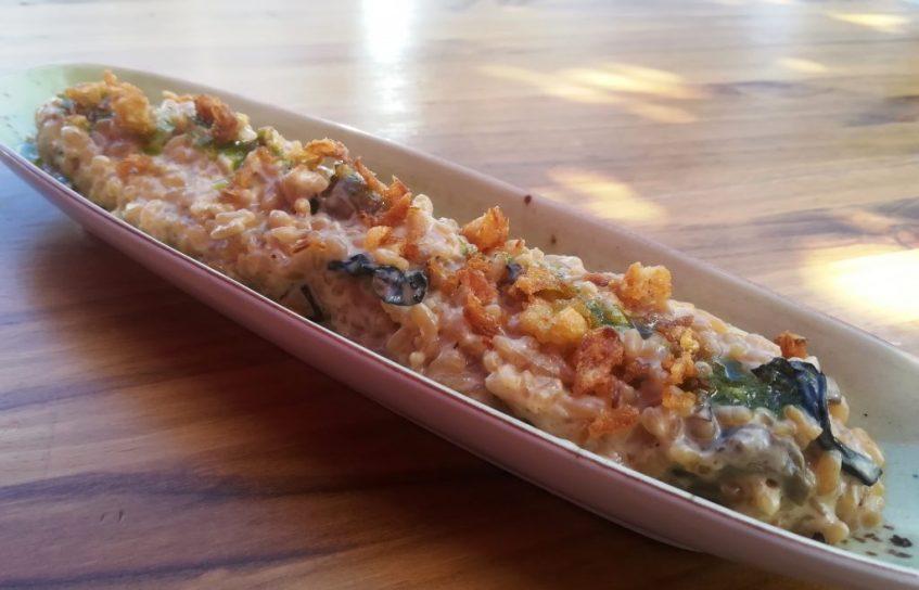 El famoso arroz meloso con setas. Foto: Cosas de Comé