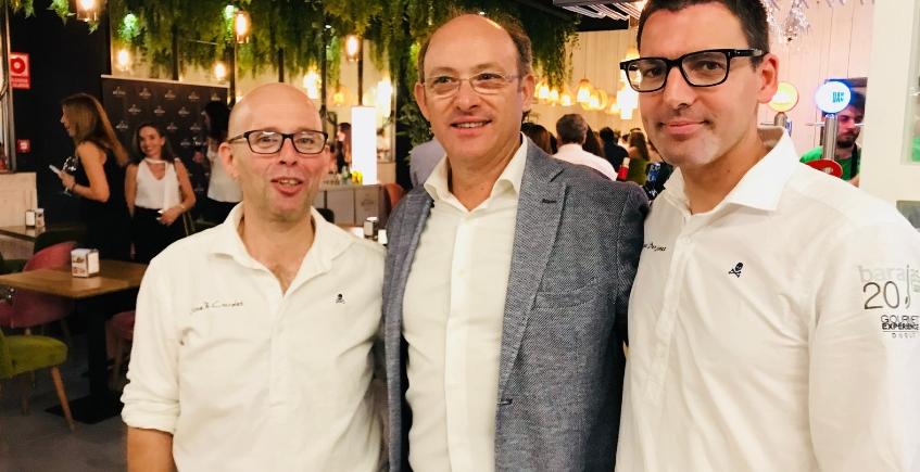 Los propietarios: José Ramón Corrales, Rafael Ruiz y Miguel Ángel Benjumea. Foto: Cosas de Comé