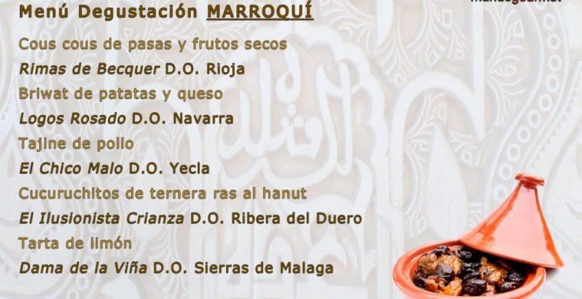 Cata maridaje de cinco vinos con cinco elaboraciones de estilo marroquí en Degusta con Gusto