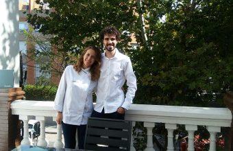 Camila Ferraro y Robert Tetas del restaurante Sobretablas que también se ve afectado por los 'no show'. Foto cedida por los propietarios.
