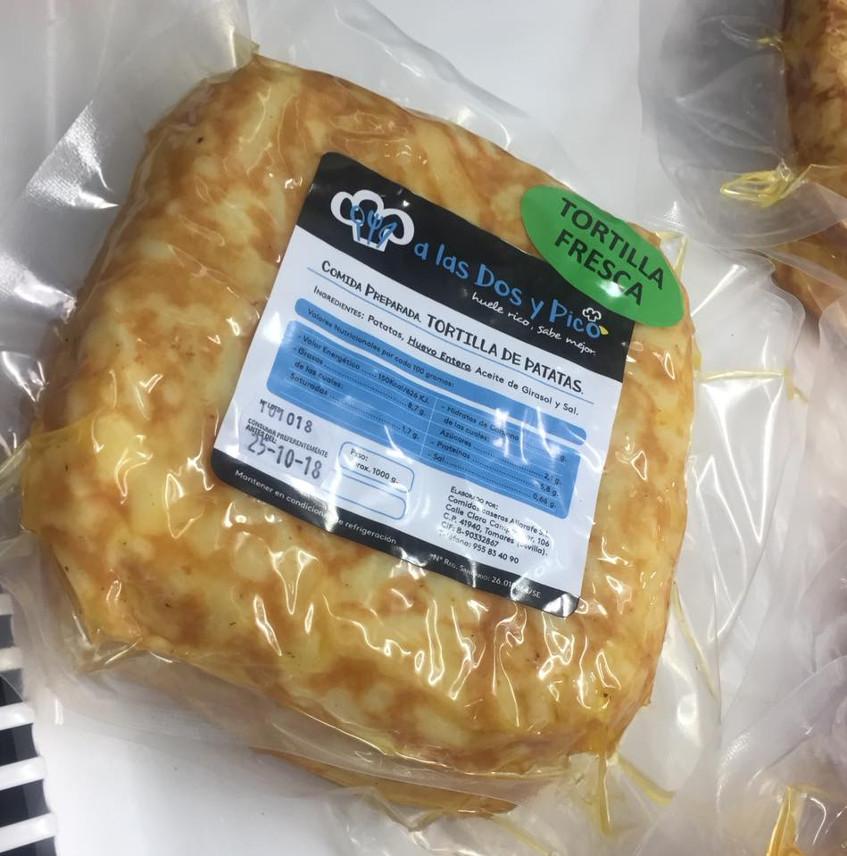 Así son las tortillas de patatas al vacío que comercializa A las Dos Y Pico. Foto: Cosasdecome
