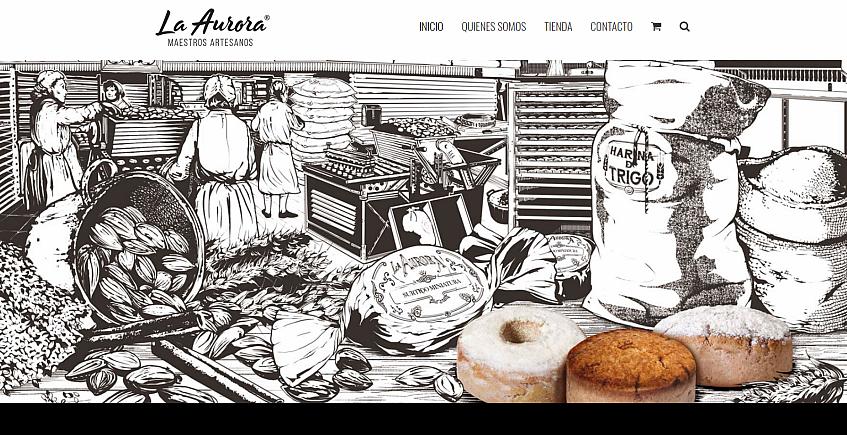 Mantecados La Aurora renueva su página web