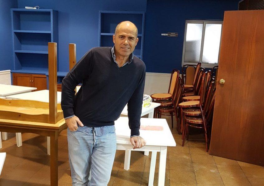 Leo Ramos, en Cal Viva, a punto de inaugurar. Foto cedida por establecimiento