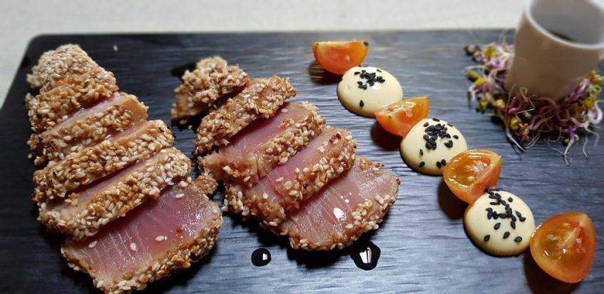 Tataki de atún. La Resolana. Foto cedida por establecimiento