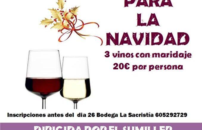 Cata de vinos para la Navidad en Bodega La Sacristía