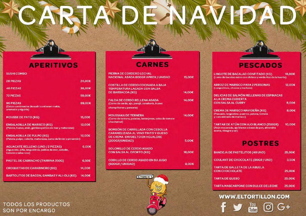 Carta especial de Navidad de El Tortillón.