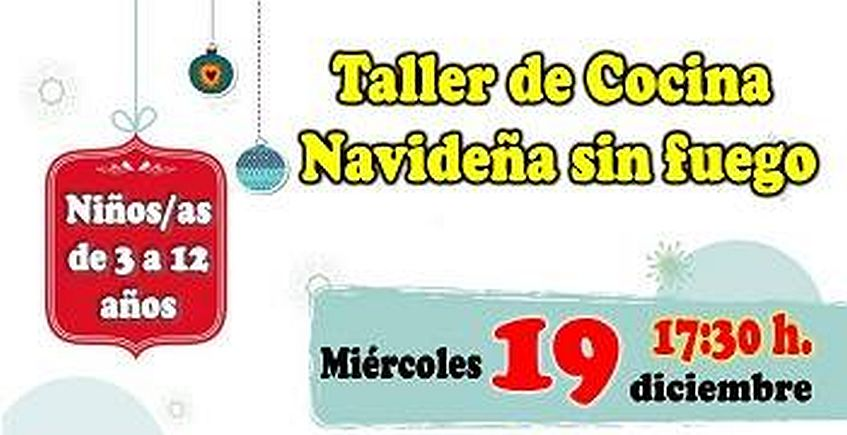 Taller de cocina navideña para niños