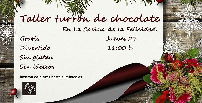 Taller gratuito de turrón de chocolate en Lebrija