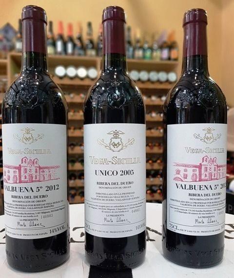 Dos de los grandes vinos de Vega Sicilia. Foto cedida