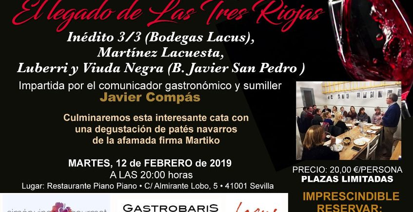 12 de febrero. Sevilla. Cata de vinos de las Tres Comarcas