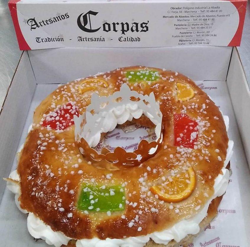 Roscón de Reyes de Artesanos Corpas. Foto cedida por establecimiento