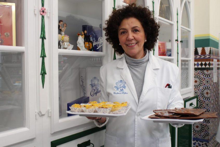 Pilar Rodríguez, en la nueva confitería de Sevilla. Foto: Cosas de Comé
