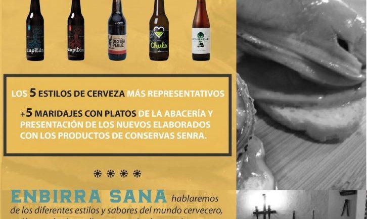 8 de febrero. Castilleja de la Cuesta. Cata de Cervezas y presentación de Conservas Senra