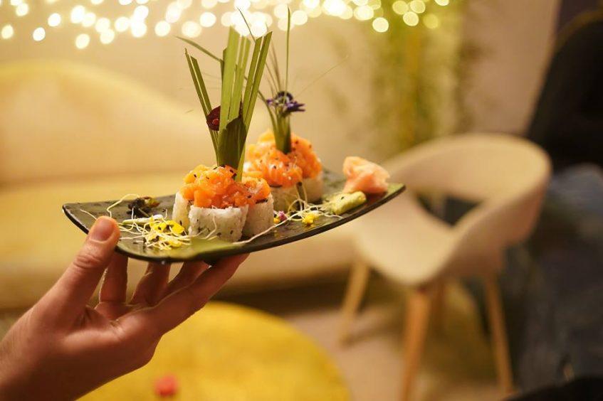 Uno de los platos de sushi. Foto cedida
