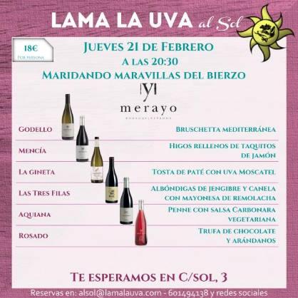 21 de febrero. Sevilla. Maridaje de vinos del Bierzo