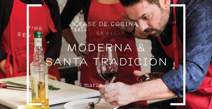 9 de marzo. Sevilla. Clase de cocina Moderna & Santa Tradición en el Hotel Alfonso XIII
